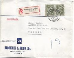 Advertising Cover RODRIGUES & BICHO LDA , 1970 , Registration Label And Postmark Restauradores Lisboa - Advertising