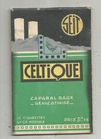 Publicité, Carnet , Cigarettes CELTIQUE , Caporal Doux Dénicotinisé , Caporal Ordinaire  , 4 Scans , Frais Fr 1.85 E - Advertising