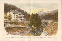 GRAND HOTEL DU LORIAN . CANTAL. MENU - Advertising