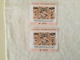 2 Billets D'entrée à L'abbaye De Conques ( France) - Eintrittskarten