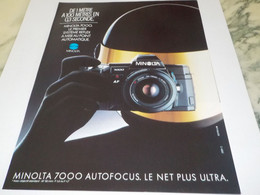ANCIENNE PUBLICITE AUTOFOCUS PHOTO MINOLTA   1987 - Fotografía