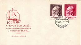 TCHECOSLOVAQUIE. N°627-8 De 1952 Sur Enveloppe 1er Jour. Violoniste Sevcik. - Music