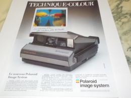 ANCIENNE PUBLICITE APPAREIL PHOTO POLAROID 1987 - Fotografía