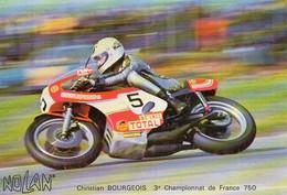 MOTO - NOLAN - Christian BOURGEOIS 3e Championnat De France 750 - BE - Motociclismo