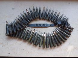 Bande 51 Coups Et Tirette Mg Allemande Ww2 Neutralisée - Decorative Weapons