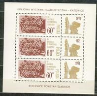 POLAND MNH ** Bloc 51 Anniversaire Du 3ème Soulèvement En Silésie Katowice - Blocks & Sheetlets & Panes