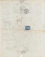 """Oblit. - Losange Petits Chiffres """"2481"""" - Poitiers - Sur Facture Lavergne Fils - Fabrique De Cuirs - 1849-1876: Klassik"""