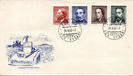 TCHECOSLOVAQUIE. N°1200-1 De 1962 Sur Enveloppe 1er Jour. Compositeurs Tchèques... - Music