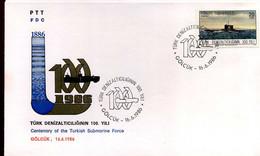 Turkije - FDC - Centenary Of The Turkish Submarine Force - FDC