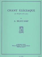 Chant élégiaque Pour Saxophone Alto Et Piano - Livres, Revues & Catalogues