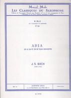 Les Classiques Du Saxophone, No  19 : Aria De La Suite En Ré - Livres, Revues & Catalogues