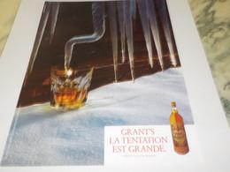 PUBLICITE  TENTATION EST GRANDE WHISKY GRANT S 1982 - Advertising