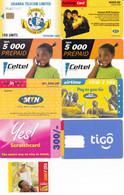 9 Télécartes AFRIQUE Lot2 - Phonecards