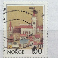 EARLY ISSUE STAMP FROM NORWAY Ships. Harbour. POSTAL CANCLED - Lighthouses
