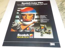 ANCIENNE PUBLICITE SCOTCH COLOR FILM 1987 - Fotografía