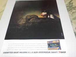 ANCIENNE PUBLICITE  CASSETTES BASF 1982 - Advertising