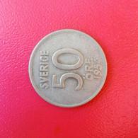 50 Öre Münze Aus Schweden Von 1954 (schön Bis Sehr Schön) - Suecia