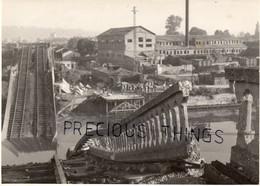 NEUILLY SUR MARNE 93  PHOTO  GUERRE 39  45  LE VIADUC DÉTRUIT EN 1944. - Neuilly Sur Marne