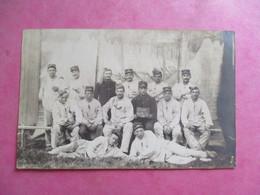 PHOTO MILITARIA GROUPE MILITAIRES REGIMENT N°77 CLUB NANTAIS 1908 44 NANTES - Regimientos
