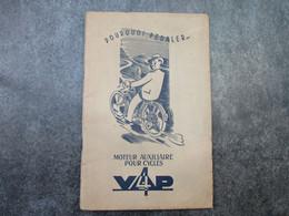 VAP 4 - Moteur Auxiliaire Pour Cycles (40 Pages Et 8 Planches) - Motorräder