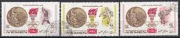 Mutawakelite K. Yemen 1968 Mi. 622-623-624 Olimpiadi Messico Oro Gold D. Hemery, B. Beamon, B. Klinger  CTO - Ete 1968: Mexico