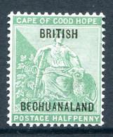 Bechuanaland Protectorate 1897 Cape Of Good Hope Overprints - ½d Yellow-green - 13½mm Apart - HM (SG 57) - 1885-1964 Protectorado De Bechuanaland