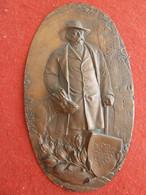 CADRE PLAQUE OVALE BRONZE  OTTO VON BISMARCK  EMPIRE ALLEMAND 1815  - 1898 - Other