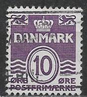 Denmark 1938. Scott #230 (U) Wavy Lines And Numeral Of Value (10) - Gebraucht