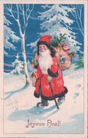Joyeux Noël, Père Noël Et Jouets, Litho (1347) - Santa Claus