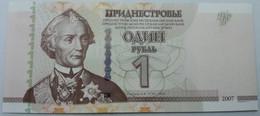 Billete Transnistria. 2007. 1 Rublo. SC. Sin Circular. Posibilidad De Números Correlativos - Bankbiljetten