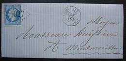 La Trimouille (Vienne) 1866 Gc 4027, Lettre Pour Montmorillon - Marcofilie (Brieven)