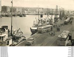 Photo Cpsm 62 BOULOGNE SUR MER. Autocars Quais 1959 Navire Bayard - Boulogne Sur Mer