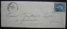 Belabre 1864 Gc 418 (Indre), Lettre Pour Montmorillon - Marcofilie (Brieven)