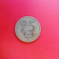 25 Öre Münze Aus Schweden Von 1945 (schön Bis Sehr Schön / MM Mit Haken) - Suecia
