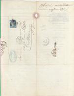 """Oblit. - Losange Gros Chiffres """"2659"""" - Nîmes - Sur Facture B. Abadie - Chiffons De Laine, Engrais, Peaux De Lapins - 1849-1876: Klassik"""