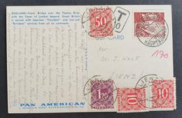 Österreich PORTO 1959, Postkarte MiF ZÜRICH Gelaufen LIENZ - 1945-60 Storia Postale