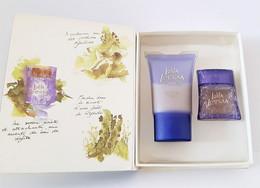 Miniatures De Parfum  COFFRET LOLITA LEMPICKA AU MASCULIN LE CARNET DE VOYAGE   EDT 5 Ml + GEL DOUCHE 20 Ml + Boite - Modern Miniatures (from 1961)