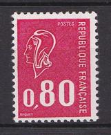 """1816a - 80c Rouge Béquet """"sans Pho"""" (gomme Brillante) - Neuf N** - Très Beau. - 1971-76 Marianne Of Béquet"""