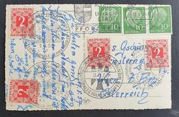 Österreich PORTO 1957/58, Postkarte MiF  Sonderstempel WIEN - 1945-60 Storia Postale