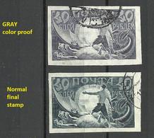 RUSSLAND RUSSIA 1921 Michel 155 PROOF + Stamp O - 1917-1923 Republic & Soviet Republic