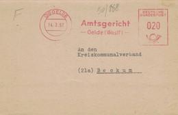 Amtsgericht Oelde Westfalen 1957 21a - Marcofilie - EMA (Printmachine)