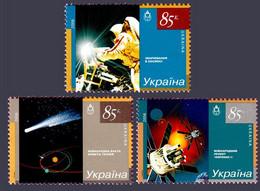 2006 (Postage Stamp Ukraine) Cosmos Series MNH (Mi: UA 782-784) - Raumfahrt