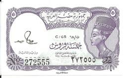EGYPTE 5 PIASTRES UNC P 182 - Egypte