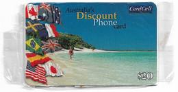 Australia - CardCall - Australian Scenery, Beach & Flags, Remote Mem. 20$, NSB - Australie