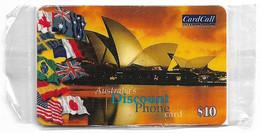 Australia - CardCall - Australian Scenery, Sydney Opera House & Flags, Remote Mem. 10$, NSB - Australie