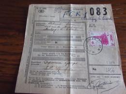 Lettre De Voiture Oblitérée Du RELAIS De GIVROULLE (FLAMIERGE) En 1957 Timbre Chemin De Fer N° 360 - Storia Postale