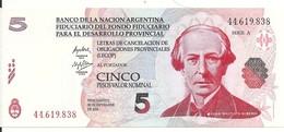 ARGENTINE 5 PESOS LECOP 2006 UNC - Argentina