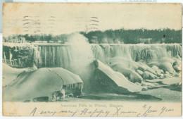 Niagara 1905; American Falls In Winter - Circulated. - NY - New York