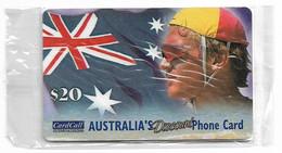 Australia - CardCall - Lifesavers, Lifesaver & Flag, Remote Mem. 20$, NSB - Australie