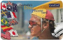 Australia - CardCall - Lifesavers, Lifesaver & Flag (With Barcode Reverse), Remote Mem. 10$, Used - Australie